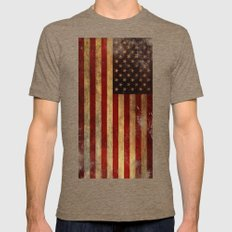 Old Faithful Mens Fitted Tee Tri-Coffee SMALL