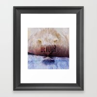 Devour Nature Like A Lio… Framed Art Print