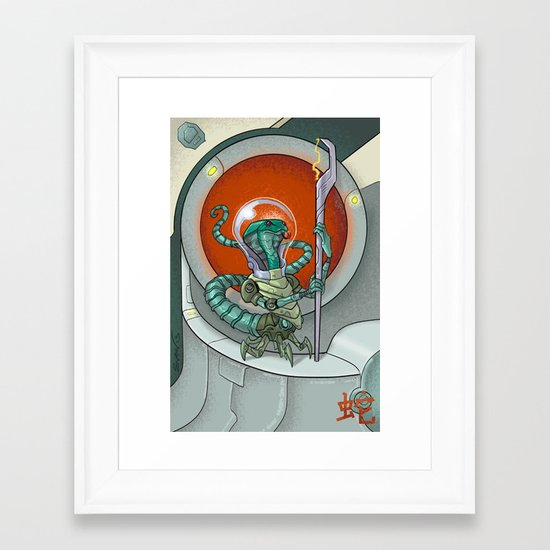 Astro Zodiac Force 06: Snake Framed Art Print