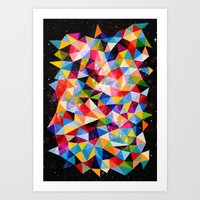 Space Shapes Art Print