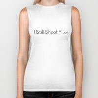 I Still Shoot Film - 1line Biker Tank