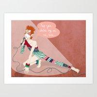 Bowie Ziggy  Art Print