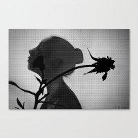 a flower's silhouette  Canvas Print