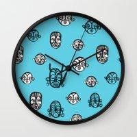 Masks III Wall Clock