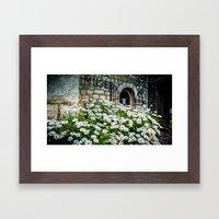 Museum & wild flowers - France Framed Art Print