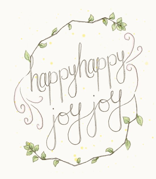 happy happy joy joy Art Print