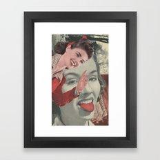 Tongue Brush Framed Art Print