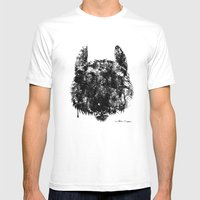 Wolf Mens Fitted Tee White SMALL