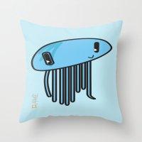 My Kawaii Jellyfish! Throw Pillow