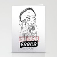 enjoy human error Stationery Cards