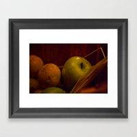 Apple And Orange Still L… Framed Art Print