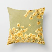 vintage spring Throw Pillow