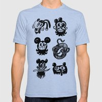 Binckey Mouse Mens Fitted Tee Tri-Blue SMALL