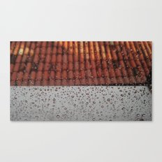 Rainy Mood on the Roof Canvas Print
