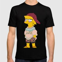 chic lisa simpson Mens Fitted Tee Black SMALL