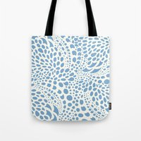 Octopus Dots: Carolina Blue  Tote Bag