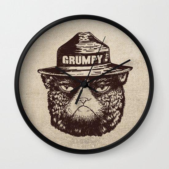 Grumpy PSA Wall Clock