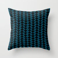 Blue Arrows Throw Pillow