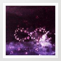 infinity Art Prints featuring INFINITY by Monika Strigel