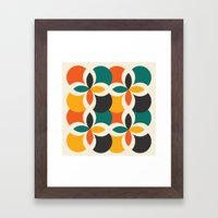 Midcentury Pattern 09 Framed Art Print