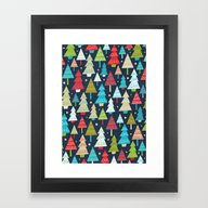 Christmas Trees Framed Art Print