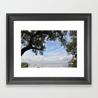 OuterBanks Vacation Blue… Framed Art Print