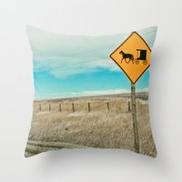 Yup, You're In Rural Montana Throw Pillow