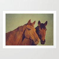 Here we go two by two Art Print