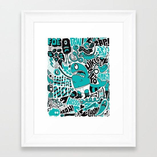 Foe! Framed Art Print