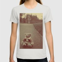 Teddy Womens Fitted Tee Silver SMALL