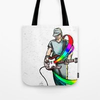 Guitarist (Colour My World) Tote Bag