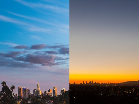 Sunset in Los Angeles Canvas Print