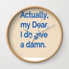 Actually, My Dear Wall Clock