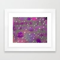 Disco made of purple bubbles Framed Art Print