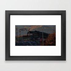 Walking bridge Framed Art Print