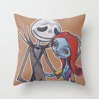 Jack and Sally Throw Pillow