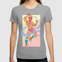 Underwear Wizard 3 Womens Fitted Tee Tri-Grey SMALL
