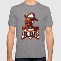 Mon Calamari Admirals on Orange Mens Fitted Tee Tri-Grey SMALL