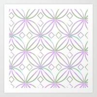 Floral Pattern - JUSTART… Art Print