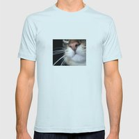 Kitty Nose Mens Fitted Tee Light Blue SMALL