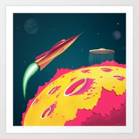 FLYING SAUCERS ATTACK Art Print