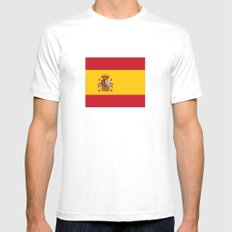 Flag of spain Mens Fitted Tee White SMALL