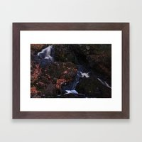 Waterfall Wyandotte Fall… Framed Art Print