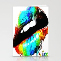 kiss Stationery Cards featuring kiss by Vector Art