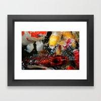 No Fishing Framed Art Print