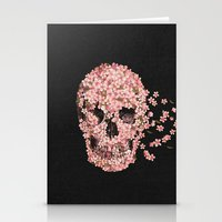 flowers Stationery Cards featuring A Beautiful Death  by Terry Fan