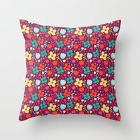 Floral Burst Throw Pillow