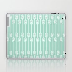 White Arrows on Mint Laptop & iPad Skin