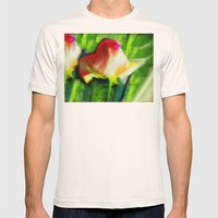 Blooming Rose Mens Fitted Tee Natural SMALL