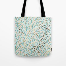 Berry Branches – Turqu… Tote Bag